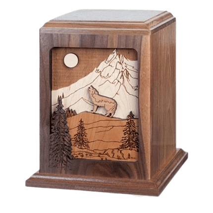 Wild Spirit Walnut Wood Cremation Urn