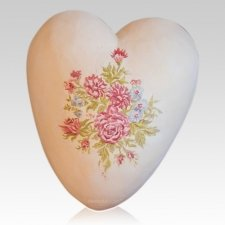 Wildflowers Ceramic Heart Urn