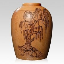 Willow Wood Cremation Urn