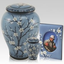 Winter Blossom Ceramic Urns