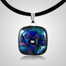 Winter Dichroic Square Glass Ash Pendant