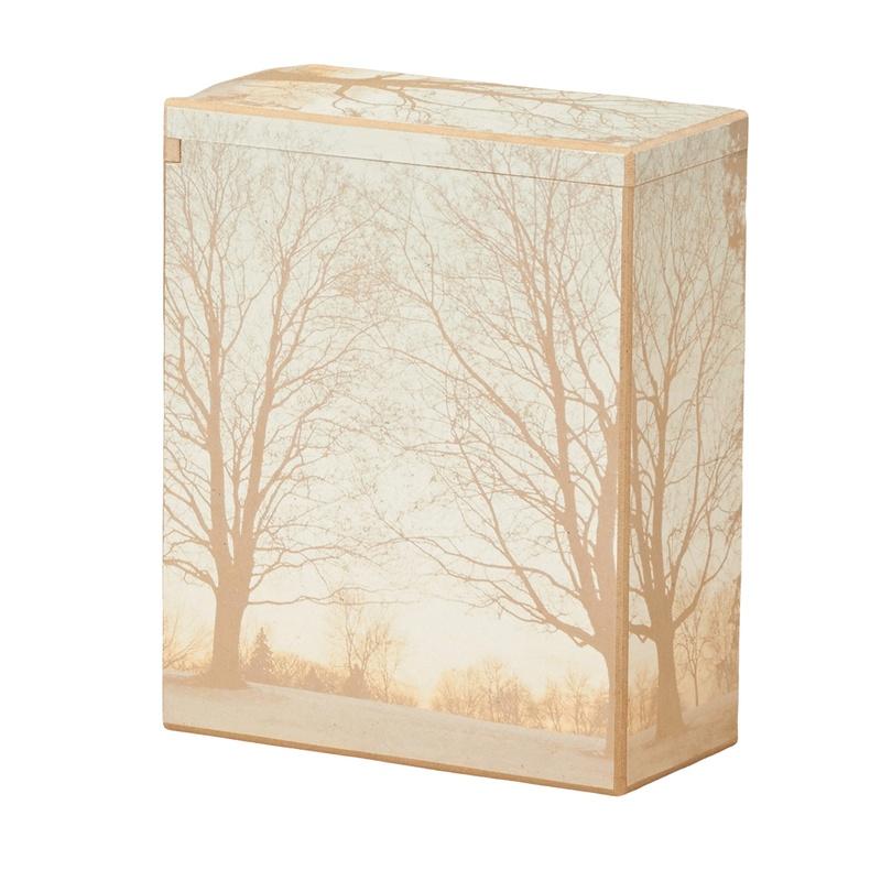 Winter Woods Scattering Cremation Urn