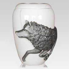 Wolf Spirit Large Urn