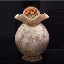 Wood Glass Cremation Urn