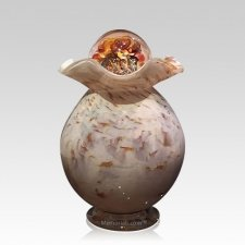 Wood Glass Cremation Urns