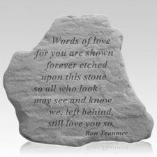 Words of Love Remembrance Stone