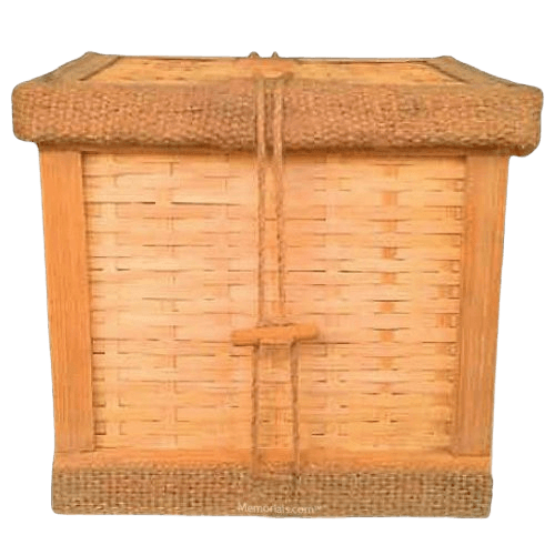 Woven Bamboo Cremation Urn