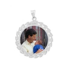 Wreath Silver Photo Jewelry