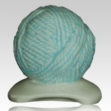 Yarn Ball Blue Cremation Urn