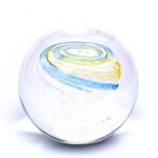 Yellow & Sky Blue Galaxy Memory Glass Keepsake