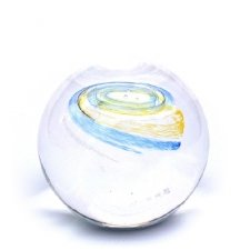 Yellow & Sky Blue Medium Galaxy Memory Glass Keepsake