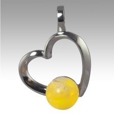 Yellow Amore Cremation Ash Pendant
