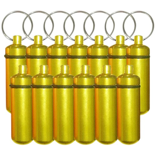 Yellow Cremation Discount Keychains