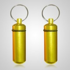 Yellow Cremation Keychains