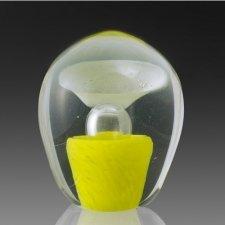 Yellow Geyser Glass Cremation Keepsake