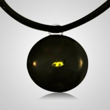 Yellow Spot Cremation Ash Pendant