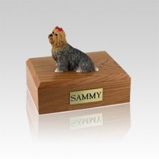 Yorkshire Terrier Brown Small Dog Urn