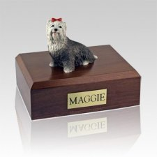 Yorkshire Terrier Gray Large Dog Urn