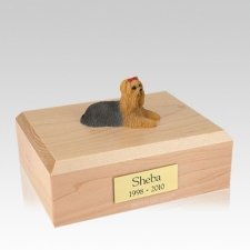 Yorkshire Terrier Laying Large Dog Urn