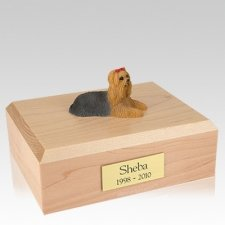 Yorkshire Terrier Laying X Large Dog Urn
