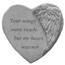 Your Wings Angel Heart Stone