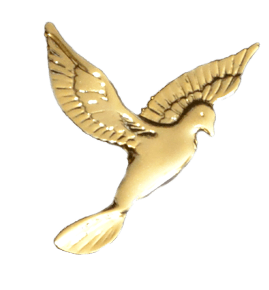 Gold Flying Dove Emblem