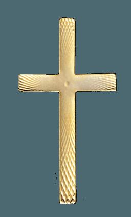 Gold Laced Cross Emblem