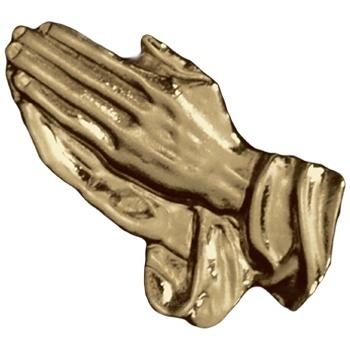 Antique Gold Praying Hands Emblem