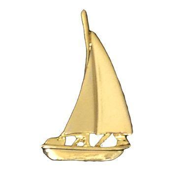 Gold Sailboat Emblem