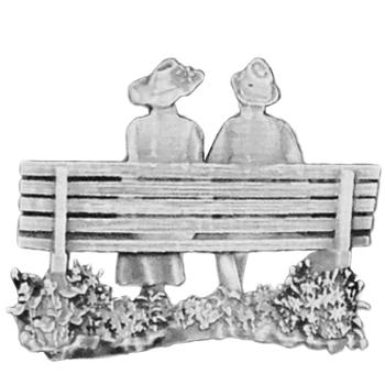 Silver Bench Couple Emblem