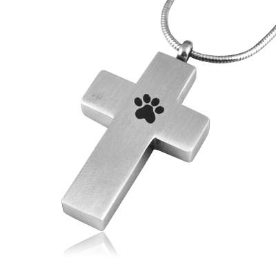 Cross Paw Memorial Jewelry