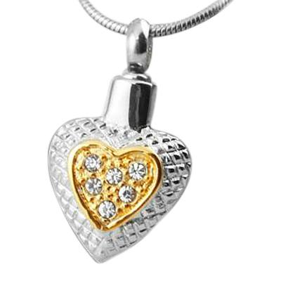 Crystal Gold Cremation Jewelry
