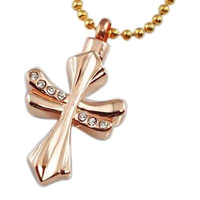 Fleur Cross Cremation Jewelry II
