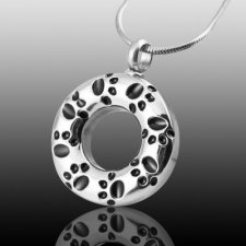 Paw Circle Cremation Jewelry