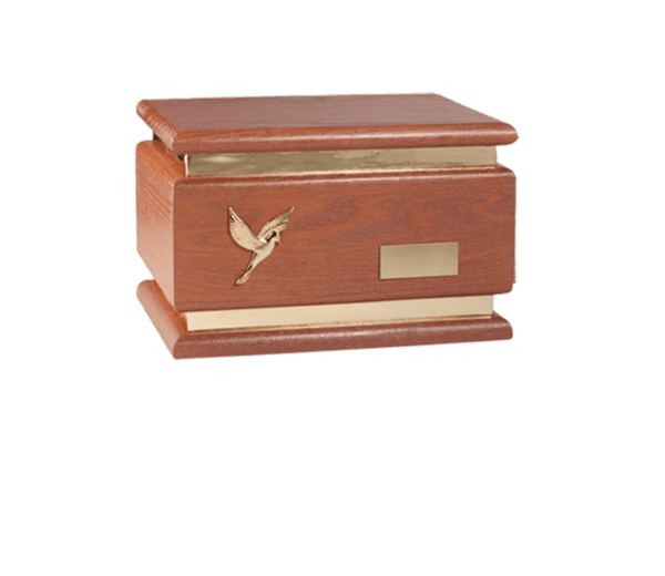 Zari Burgundy Wood Cremation Urn