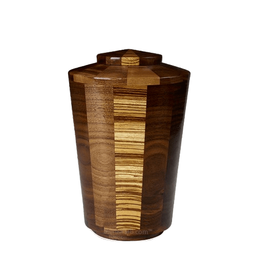 Zebra Medium Wood Urn