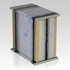 Zebra Bianco Marble Cremation Urn