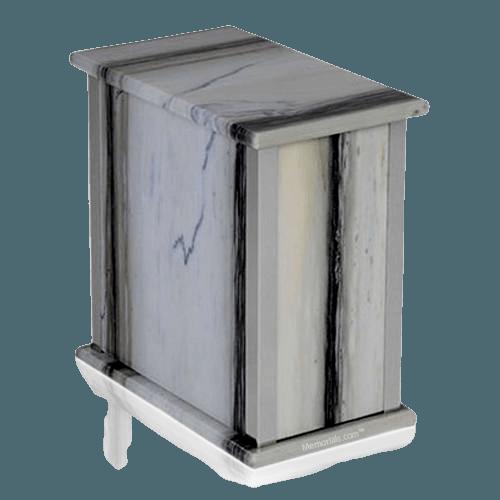 Zebra Bianco Silver Marble Urn