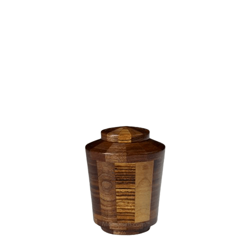 Zebra Keepsake Wood Urn
