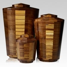 Zebra Wood Cremation Urns