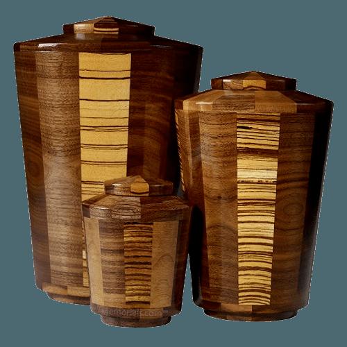Zebra Wood Cremation Urns