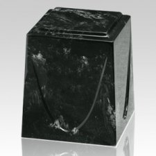 Ebony Saturn Marble Cremation Urn