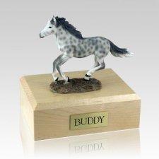 Dapple Gray Running Horse Cremation Urns