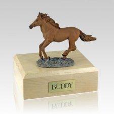Chesnut Running Horse Cremation Urns