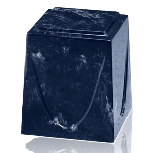 Navy Saturn Marble Cremation Urn
