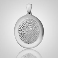 Regular Casing 14k White Gold Finger Print Keepsakes