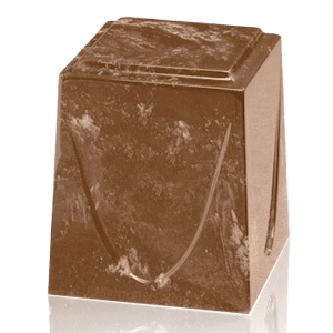 Taupe Saturn Marble Cremation Urn