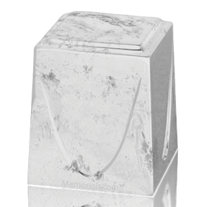 White Saturn Marble Cremation Urn