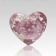 Rose Copper Heart Cremation Urn