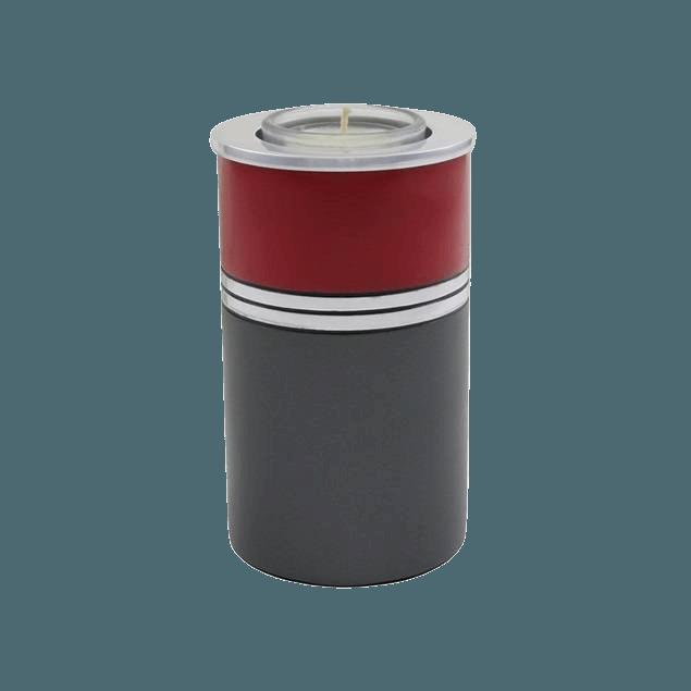 Acropolis Bright Red Candle Keepsake Urn
